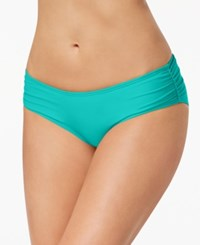 Coco Reef Ruched Hipster Bikini Bottoms Swimsuit Larimar Aqua