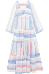 Stella Mccartney Tiered Striped Cotton Blend Maxi Dress Ivory