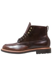 J.Crew Kenton Pacer Laceup Boots Burnished Tobacco Brown