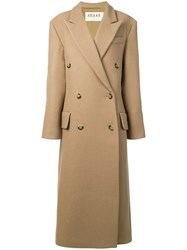 Awake A.W.A.K.E. Double Breasted Coat Brown