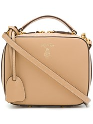 Mark Cross Box Tote Bag Leather Nude Neutrals