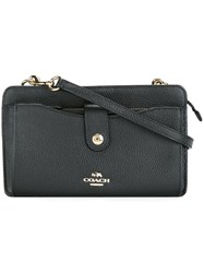 Coach Snap Fastening Crossbody Bag Black