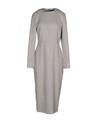 Alex Vidal 3 4 Length Dresses Beige