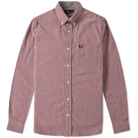 Fred Perry Classic Gingham Shirt Brown