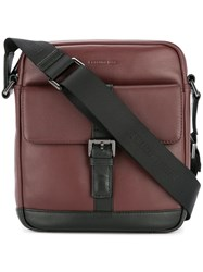 Cerruti 1881 Buckled Messenger Bag Red