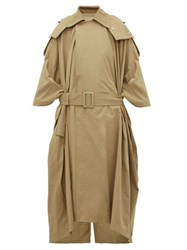 Toga Oversized Belted Trench Coat Beige
