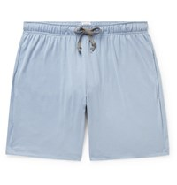 Schiesser Josef Cotton Jersey Pyjama Shorts Blue