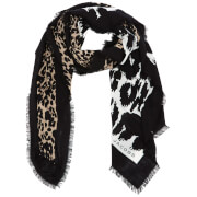 Marc Jacobs Women's Dotted Leopard Stole Scarf Bone