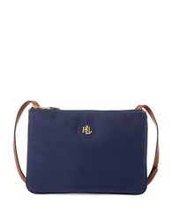 Lauren Ralph Lauren Textured Shoulder Bag Navy Blue