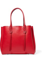 Lanvin The Shopper Small Leather Tote Red