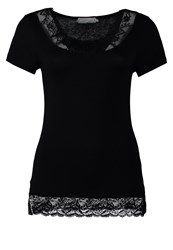 Cream Florence Basic Tshirt Pitch Black