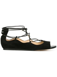 Sam Edelman Lace Up Sandals Black