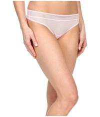 Dkny Signature Thong Sugar Pink Fishnet Women's Underwear White