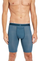 Tommy John Air Boxer Briefs Reflecting Pond Blue Mirage