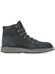 Hogan Lace Up Boots Blue