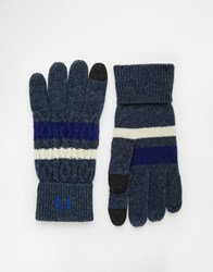 Fred Perry Cable Tipped Touch Gloves Navy