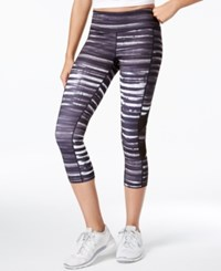 Ideology Printed Cropped Leggings Only At Macy's Noir Distressed