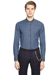Manuel Ritz Stretch Cotton Chambray Shirt