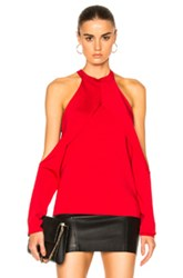 Dion Lee Sleeve Release Evening Knit Top In Red