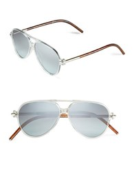 Marc Jacobs 56Mm Aviator Sunglasses Clear