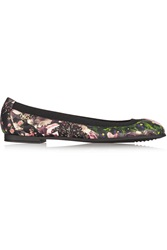Givenchy Floral Print Nappa Leather Ballet Flats