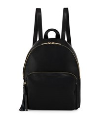 Kc Jagger Alexa Small Leather Pocket Backpack Black