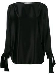 Gianluca Capannolo Tied Sleeves Blouse Black