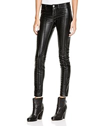 Blank Nyc Blanknyc Vegan Faux Leather Skinny Embroidered Pants Wake Up Call