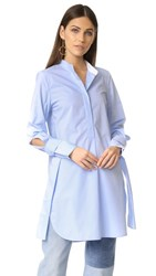 Edition10 Button Down Tunic Top Placid Blue