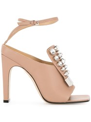 Sergio Rossi Crystal Embellished Pumps Pink And Purple