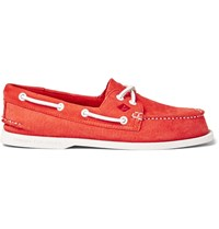 Sperry Authentic Original Leather Boat Shoes Red