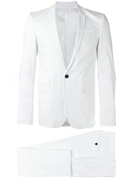 Les Hommes Single Breasted Suit White