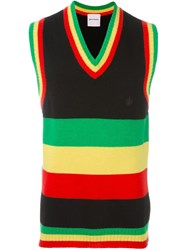 Palm Angels Colour Block Knit Vest Multicolour