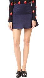 Bb Dakota Jack By Abrams Faux Suede Mini Skirt Night Sky