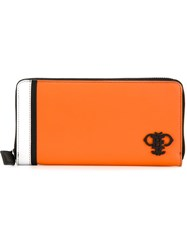 Emilio Pucci Embellished Logo Wallet Yellow And Orange