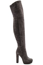 Alice Olivia Halle Platform Over The Knee Boot Charcoal