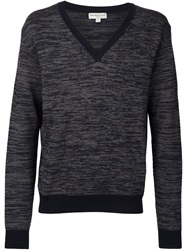 Melindagloss V Neck Sweater Grey