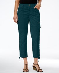 Styleandco. Style Co. Cropped Slim Fit Pants Only At Macy's New Rustic Teal