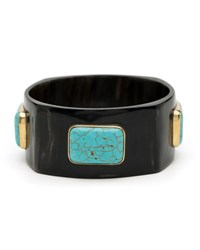 Ashley Pittman Kutega Turquoise Cabochon Bangle Multi
