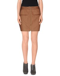 Kai Aakmann Skirts Mini Skirts Women Brown