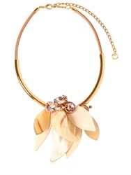 Marni Resin Flower Necklace With Crystals