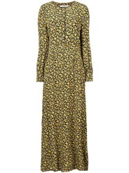Calvin Klein Jeans Floral Dress Yellow