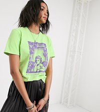 Reclaimed Vintage Inspired T Shirt With Cherub Print Green