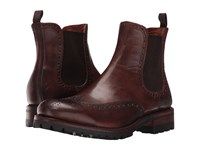 Frye George Lug Brogue Chelsea Cognac Vintage Pull Up Men's Boots Brown