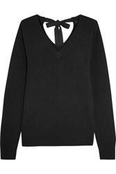 Joseph Tie Back Cashmere Sweater Black