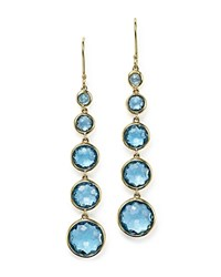 Ippolita 18K Gold Rock Candy Lollitini Earrings With Swiss Blue Topaz Blue Gold