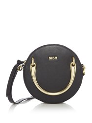 Biba Spencer Mini Circle Leather Bag Black