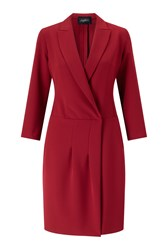 James Lakeland Crossover Dress Red