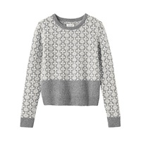 Toast Estonian Jacquard Jumper Grey Melange Bone