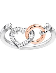 Thomas Sabo Together Heart Sterling Silver And Diamond Ring